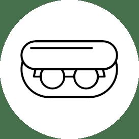 ikona akcesoriów i dodatków okularowych